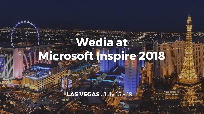 Wedia at Microsoft Inspire