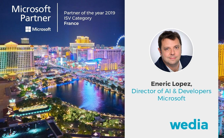 Wedia Microsoft Partner of the Year 2019 ISV