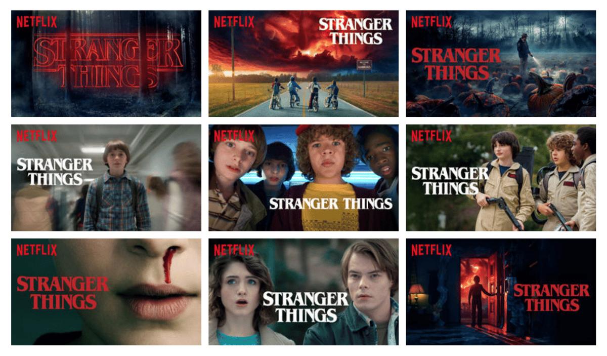 Image produit personnalisées pour la série Netflix Stranger Things