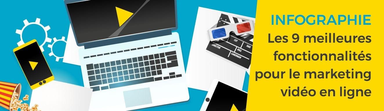 Infographie : Les 9 meilleures fonctionnalités du Digital Asset Management Wedia pour le marketing vidéo en ligne