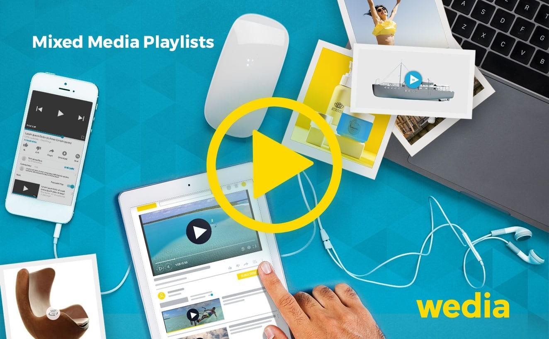 Erstellen Sie Mixed Media Playlists mithilfe des Wedia-DAM