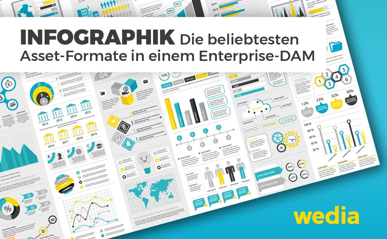 Infographik gängigste digitale Asset-Formate in einem DAM