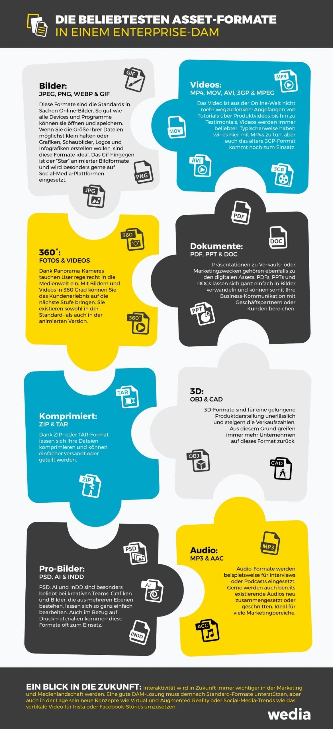INFOGRAPHIK: Die beliebtesten Asset-Formate in einem Enterprise-DAM