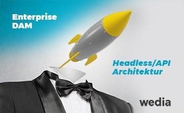 Wedia - Blog: Headless-Architektur und APIs als Eckpfeiler der DAM-Integrationsfähigkeit