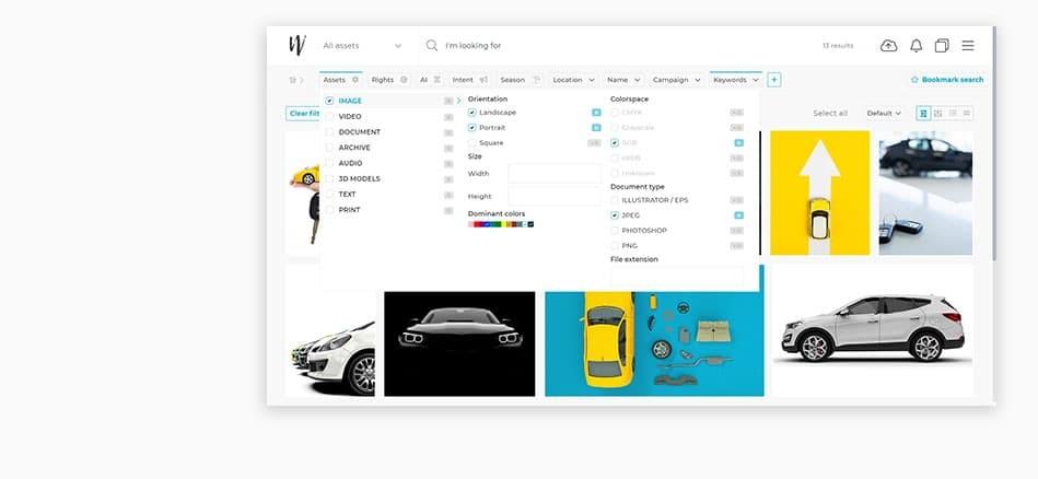 Wedia - 5 essentielle DAM-Vorteile für die Automobilindustrie