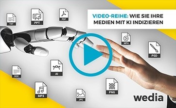 Wedia - Blog: Wie Sie Ihre Medien mit den KI indexieren services des Wedia DAM einfach verschlagworten