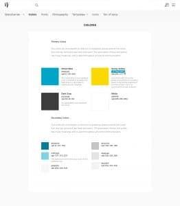 Brand Center Colors