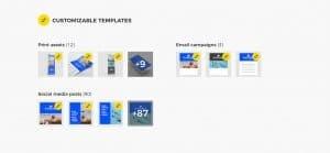 DAM Customizable templates